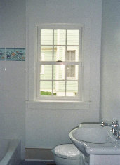 Arlene 39 s seascape stained glass window dean 39 s stained for Seascape bathroom ideas