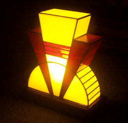 Art Deco Lamps - Stained Glass Lamps - Dean\'s Stained Glass