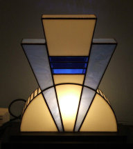 art deco lamp. Art Deco Styled Stained Glass Lamp Presently In The Rex Cinema S