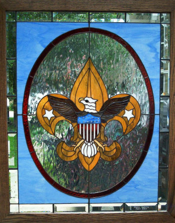 Be Prepared  Boy Scout Stained Glass Window