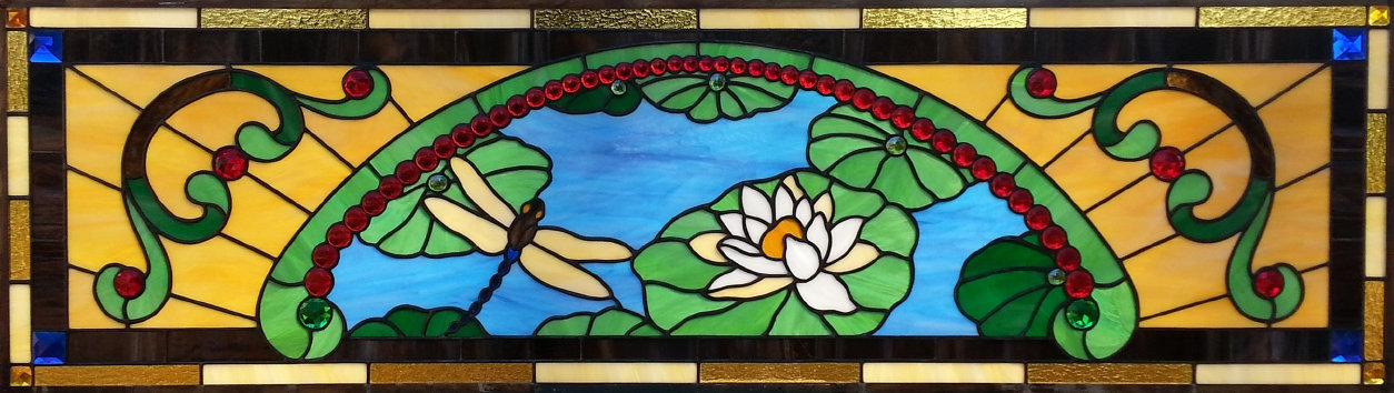 Charlette's Transom - stained glass transom