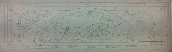Drawing of Charlette's Transom