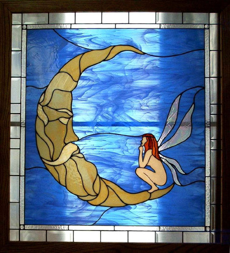 Fairy And The Moon Stained Glass Window Dean S Stained