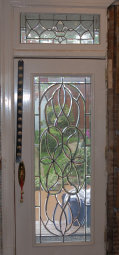 Some of the stained and beveled glass in Gary's Home