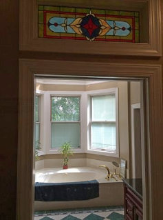 After transom installation