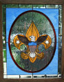 Boy Scout stained glass window