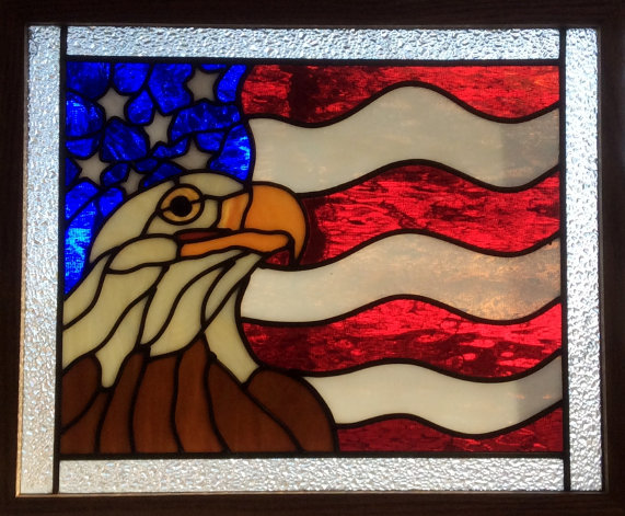 Jim's Stained Glass Eagle