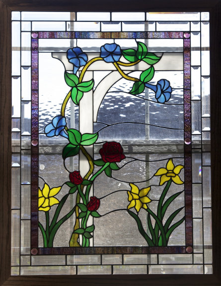 Sharon 39 S Flowers Stained Glass Windows Dean 39 S Stained Glass