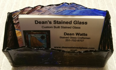 Stained Glass Business Card Holders Stained Glass Transom Deans