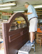 Installing arched top molding